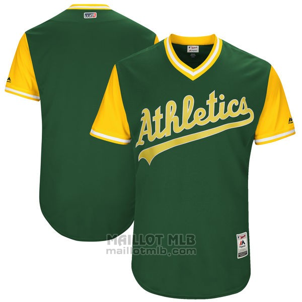 Maillot Baseball Homme Oakland Athletics Players Weekend 2017 Personnalise Vert