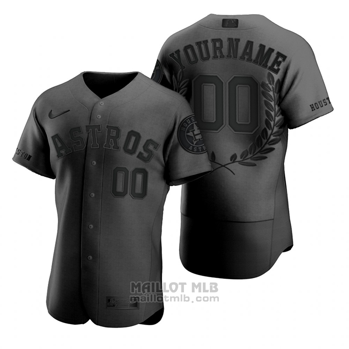 Maillot Baseball Homme Personnalise Awards Collection Noir