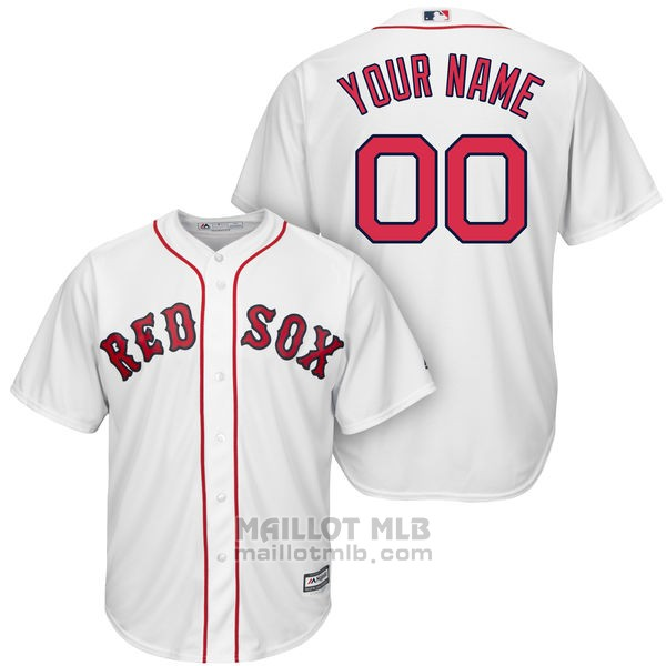 Maillot Baseball Enfant Boston Red Sox Personnalise Blanco