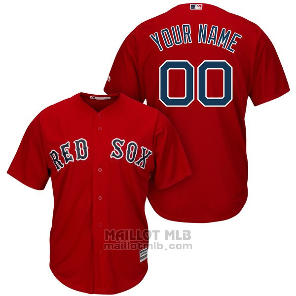 Maillot Baseball Enfant Boston Red Sox Personnalise Rouge