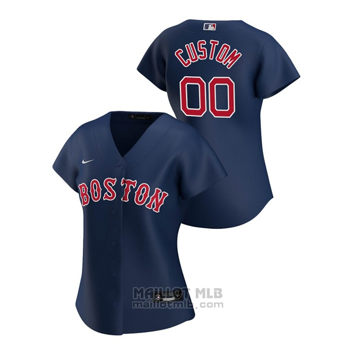 Maillot Baseball Femme Boston Red Sox Personnalise 2020 Replique Alterner Bleu