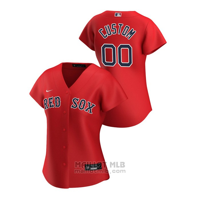 Maillot Baseball Femme Boston Red Sox Personnalise 2020 Replique Alterner Rouge