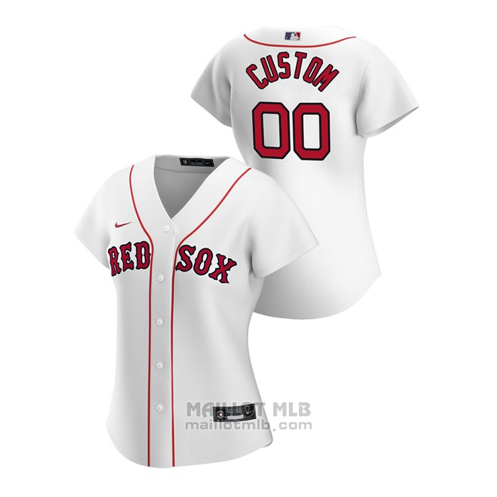 Maillot Baseball Femme Boston Red Sox Personnalise 2020 Replique Primera Blanc
