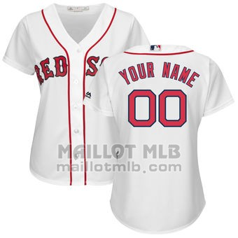 Maillot Baseball Femme Boston Red Sox Personnalise Blanco