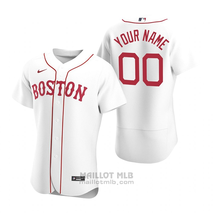 Maillot Baseball Homme Boston Red Sox Personnalise Authentique 2020 Alterner Blanc