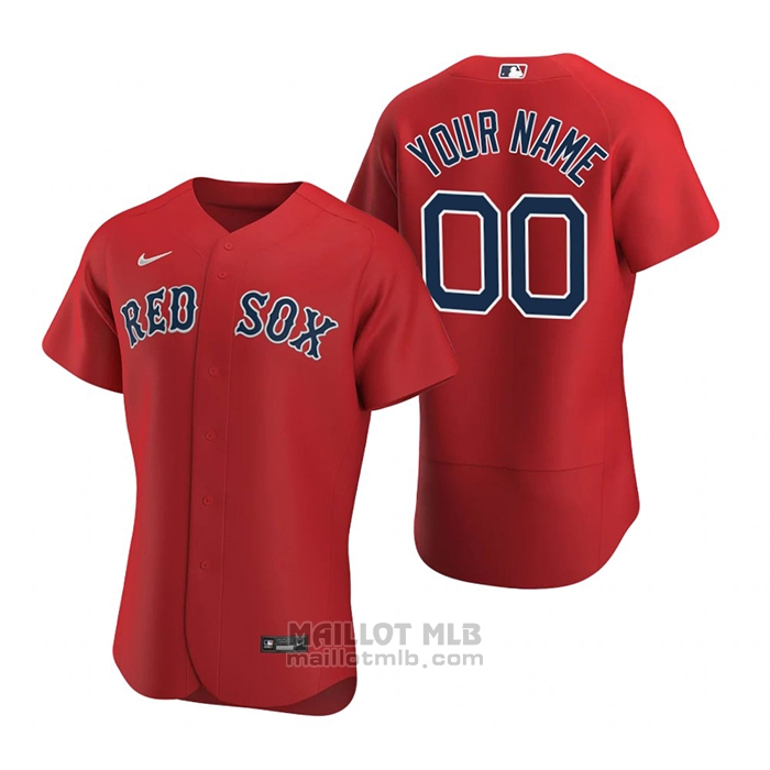 Maillot Baseball Homme Boston Red Sox Personnalise Authentique Alterner 2020 Rouge