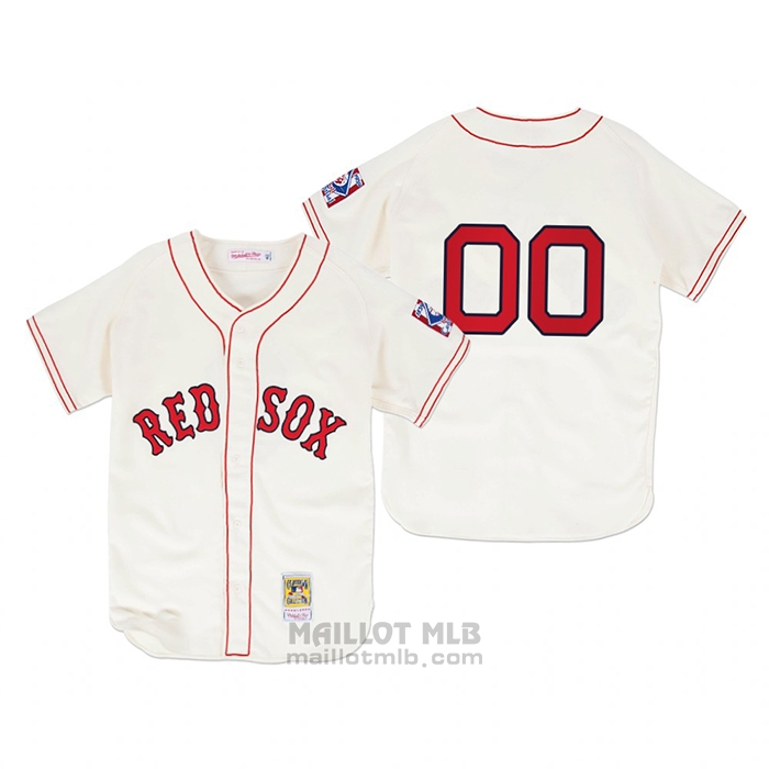 Maillot Baseball Homme Boston Red Sox Personnalise Authentique Primera 1939 Creme