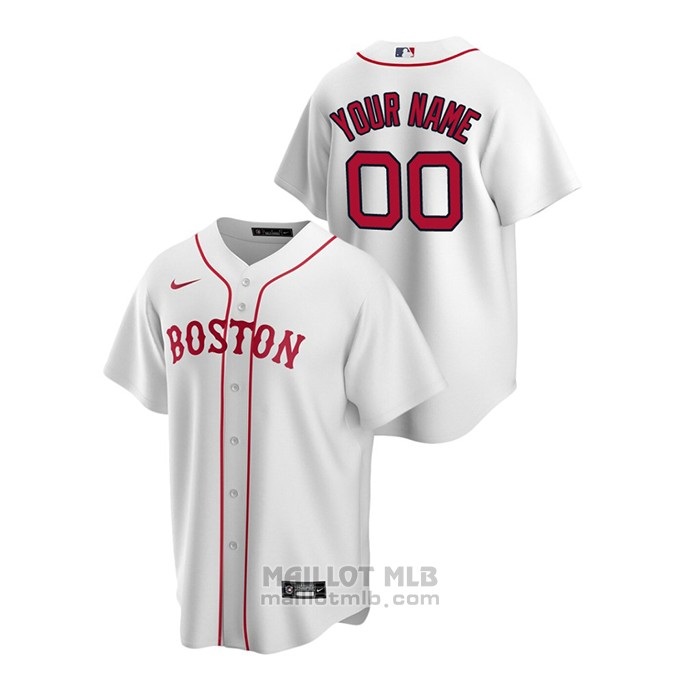 Maillot Baseball Homme Boston Red Sox Personnalise Replique Alterner Blanc