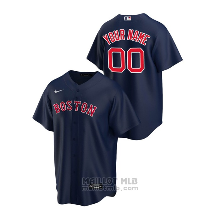 Maillot Baseball Homme Boston Red Sox Personnalise Replique Alterner Bleu