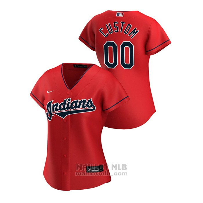Maillot Baseball Femme Cleveland Indians Personnalise 2020 Replique Alterner Rouge