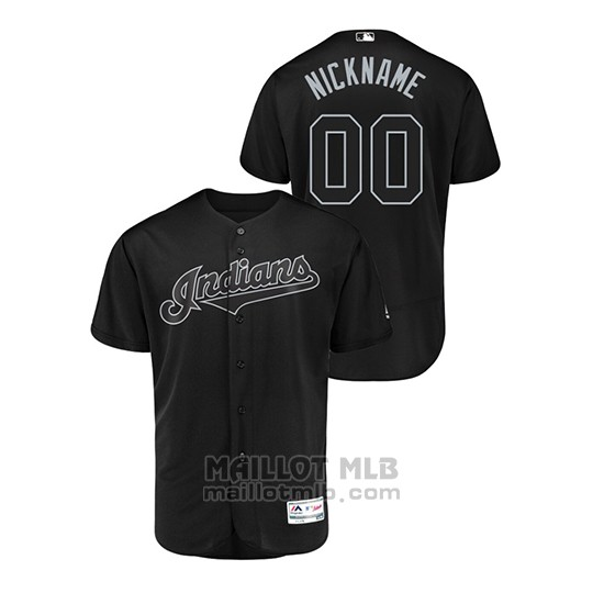 Maillot Baseball Homme Cleveland Indians Personnalise 2019 Players Weekend Authentique Noir