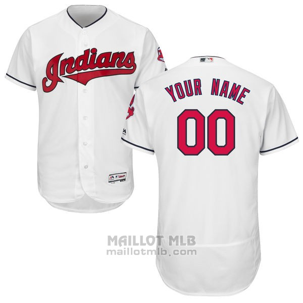 Maillot Cleveland Indians Personnalise Blanco