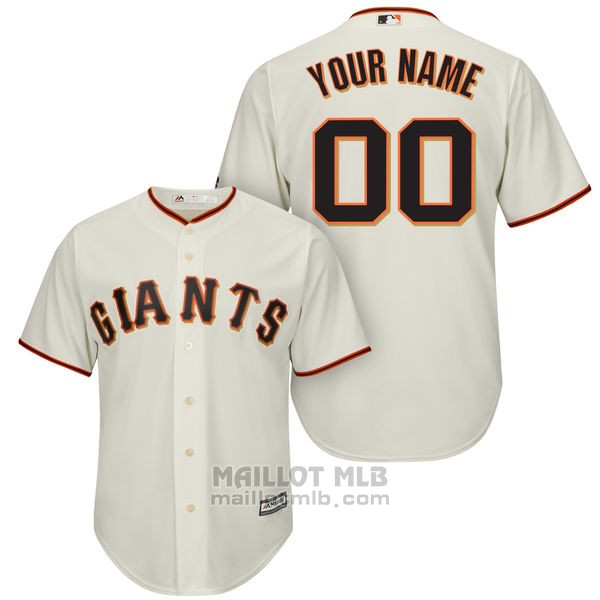 Maillot Baseball Enfant San Francisco Giants Personnalise Blanco
