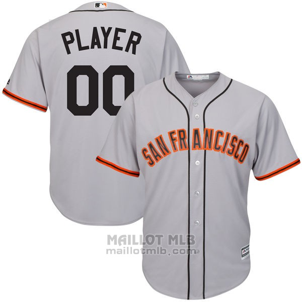 Maillot Baseball Enfant San Francisco Giants Personnalise Gris