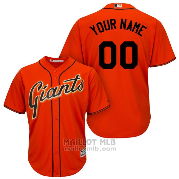 Maillot Baseball Enfant San Francisco Giants Personnalise Orange