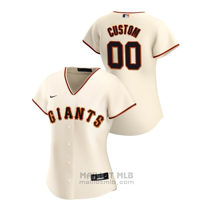 Maillot Baseball Femme San Francisco Giants Personnalise 2020 Replique Primera Creme