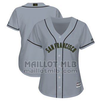 Maillot Baseball Femme San Francisco Giants Personnalise Gris