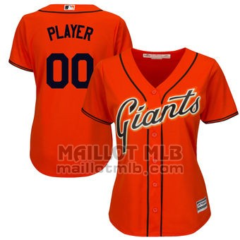 Maillot Baseball Femme San Francisco Giants Personnalise Orange