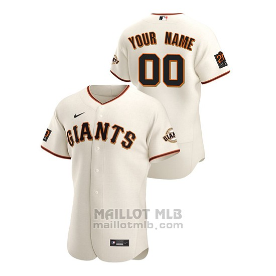 Maillot Baseball Homme San Francisco Giants Personnalise Authentique Nike Blanc