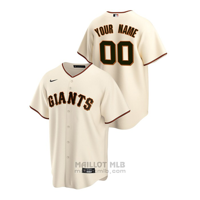 Maillot Baseball Homme San Francisco Giants Personnalise Replique Primera Creme
