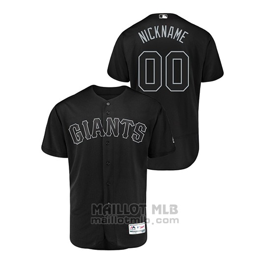 Maillot Baseball Homme San Francisco Giants Personnalise 2019 Players Weekend Authentique Noir