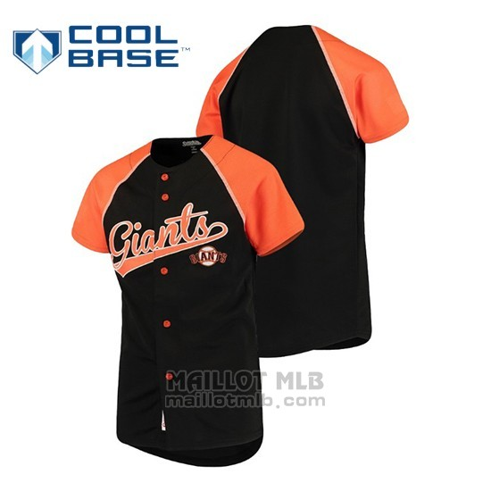 Maillot Enfant San Francisco Giants Personalizada Stitches Noir Orange